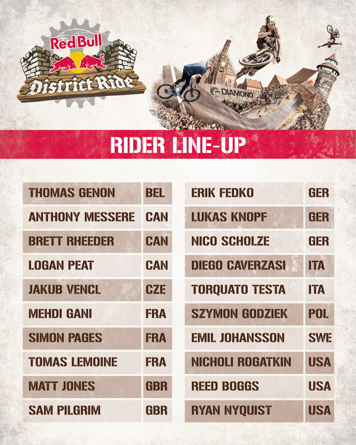 Red Bull District Ride lineup